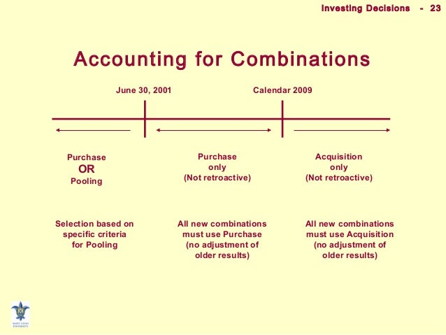 Accounting Implications Of Consolidation