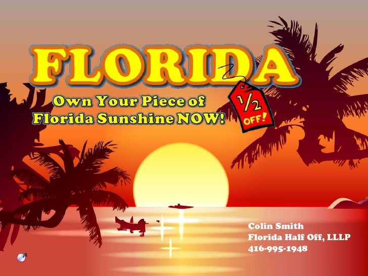 Colin Smith Florida Half Off, LLLP 416-995-1948