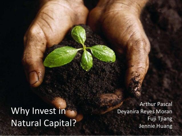 Why Invest in Natural Capital? Arthur Pascal Deyanira Reyes Moran Fuji Tjiang Jennie Huang