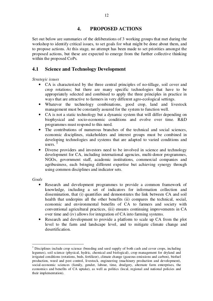 12                                4.       PROPOSED ACTIONSSet out below are summaries of the deliberations of 3 working g...