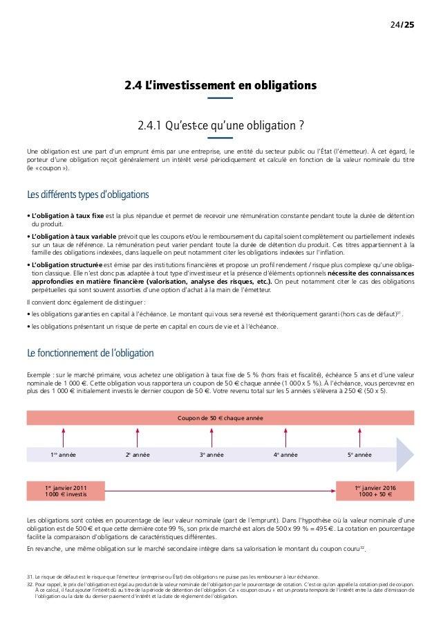 /252424 Une obligation est une part d'un emprunt émis par une entreprise, une entité du secteur public ou l'État (l'émett...
