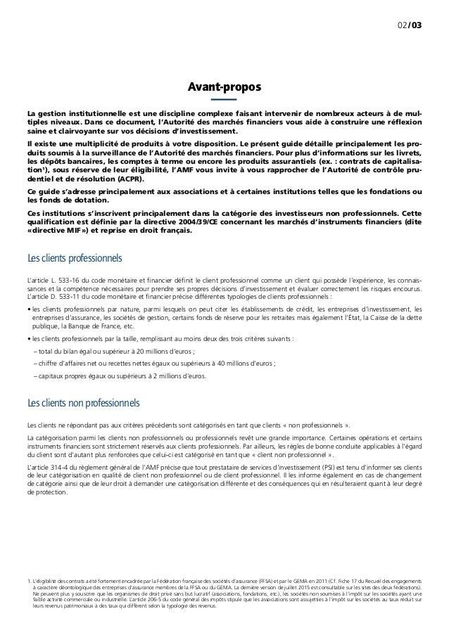 /0302 Avant-propos La gestion institutionnelle est une discipline complexe faisant intervenir de nombreux acteurs à de mu...