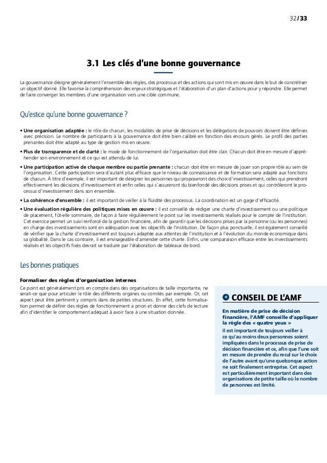 /3332 La gouvernance désigne généralement l'ensemble des règles, des processus et des actions qui sont mis en œuvre dans ...