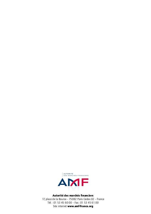 Autorité des marchés financiers 17, place de la Bourse – 75082 Paris Cedex 02 – France Tél. : 01 53 45 60 00 – Fax : 01 53...
