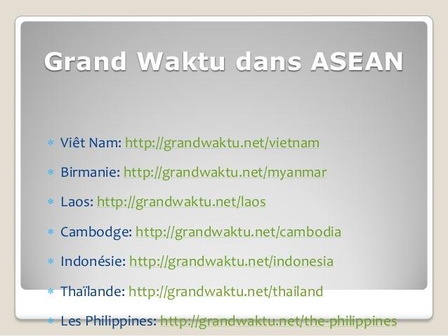 Grand Waktu dans ASEAN Viêt Nam: http://grandwaktu.net/vietnam Birmanie: http://grandwaktu.net/myanmar Laos: http://gra...