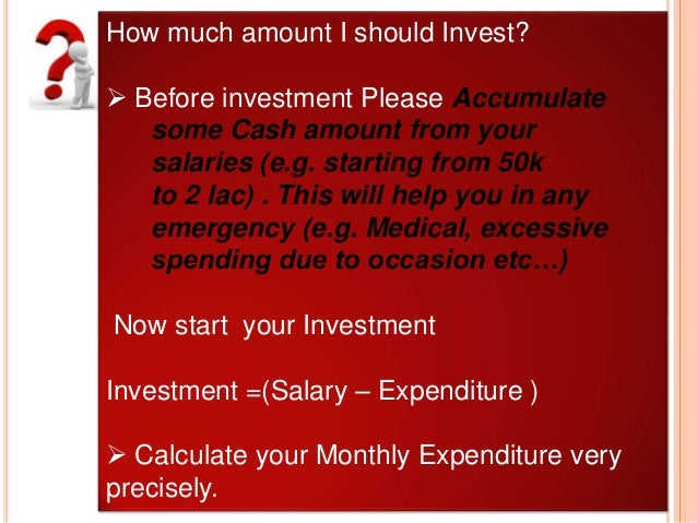 Best investment options for salaried person in india