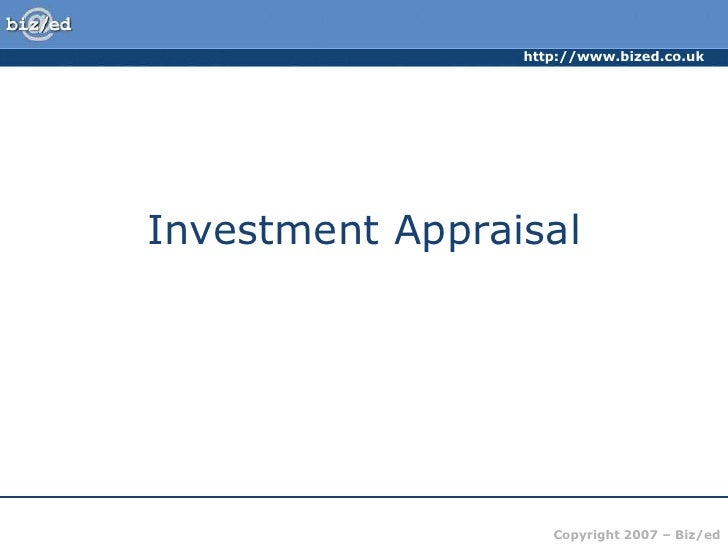 Investment Appraisal<br />