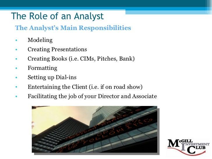 Superb Investment Banking 101 (f08). Investment Banker Job Description.