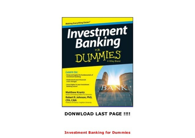 Investment banking for dummies epub format eforexstore reviews