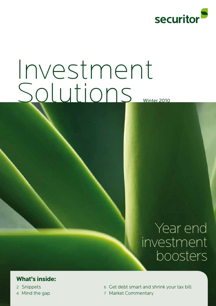 Investment Solutions                           Winter 2010                                           Year end             ...