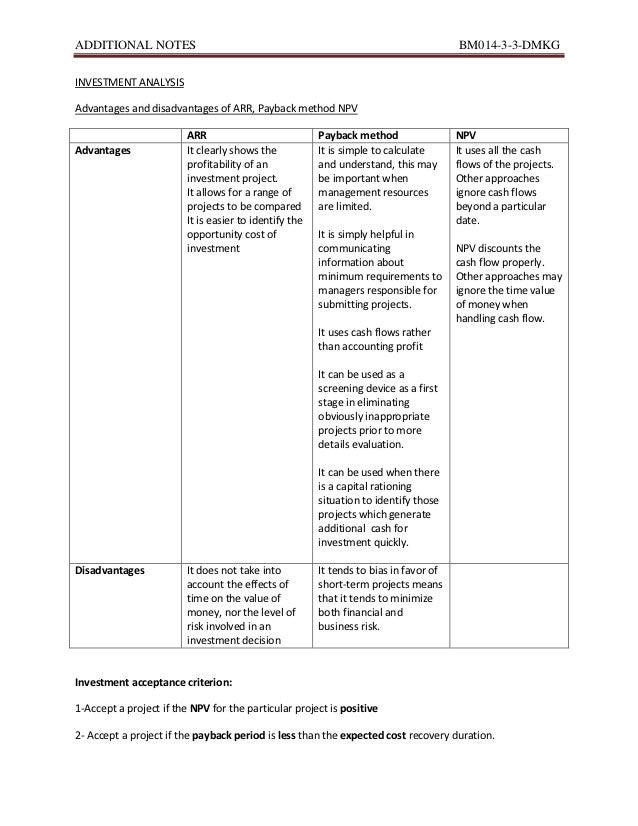 ADDITIONAL NOTES                                                                       BM014-3-3-DMKGINVESTMENT ANALYSISAd...