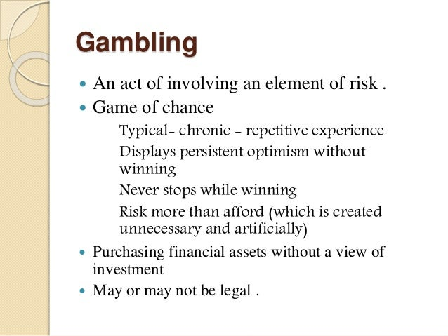 Difference between investment speculation and gambling ppt templates az crown investments limited