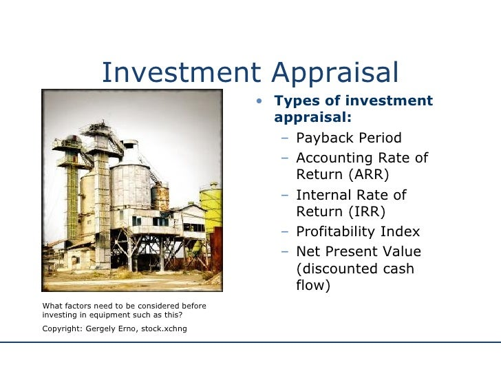 essay on investment appraisal Read this essay on investment appraisal come browse our large digital warehouse of free sample essays get the knowledge you need in order to pass your classes and more.