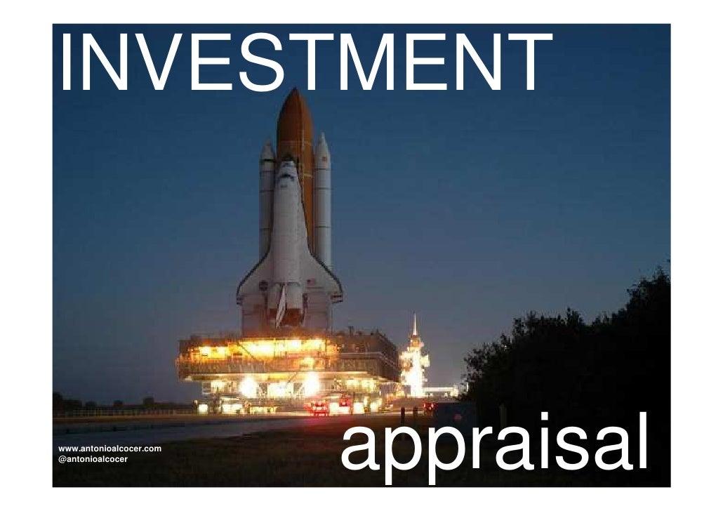 INVESTMENTwww.antonioalcocer.com@antonioalcocer                         appraisal