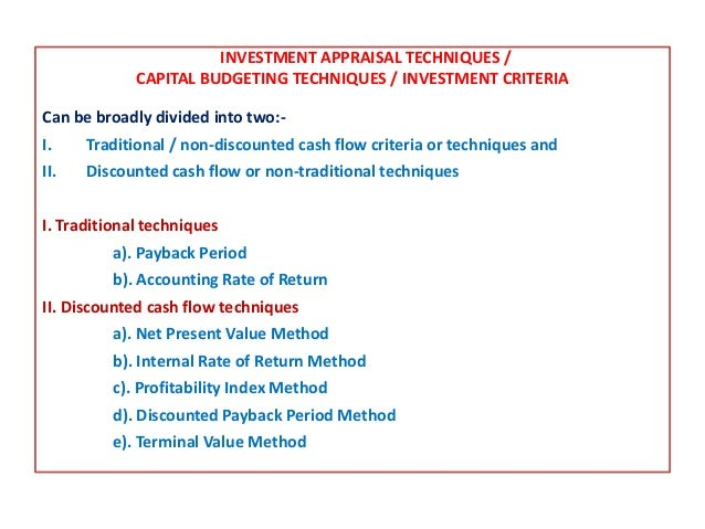 Investments appraisal techniques russell investment group wikipedia