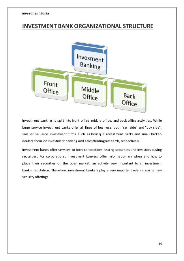How different departments of bank works