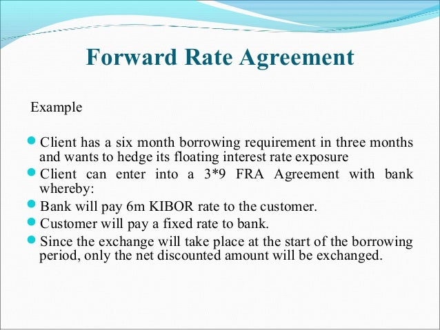 Forward Pricing Rate Agreement Gallery Agreement Letter Format