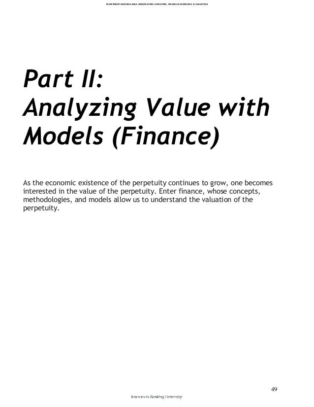 valuation and financial modeling a case The financial modeling and valuation program is brought to you by kaplan genesis, with an aim to equip delegates with knowledge and tools to develop a financial model through a case study approach.