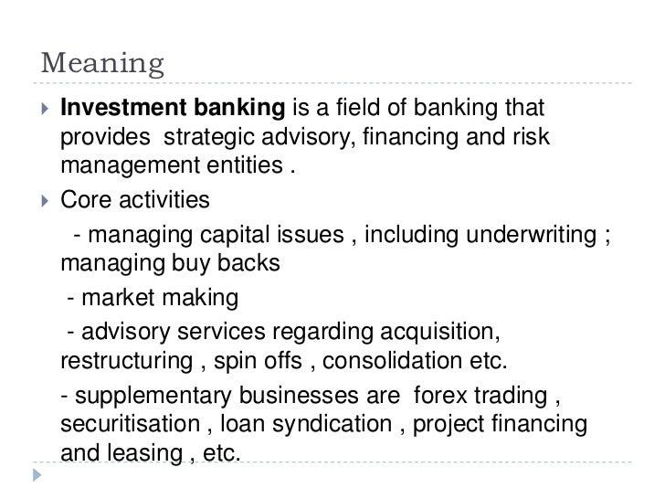 investment banker def