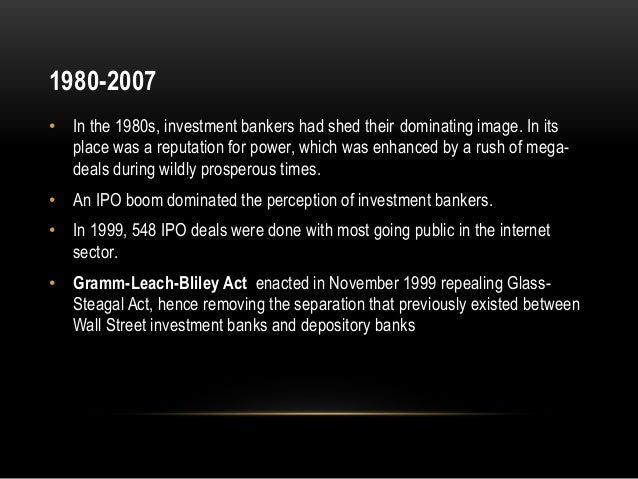 Role Of Investment Banks In The Financial Crisis Of 2008