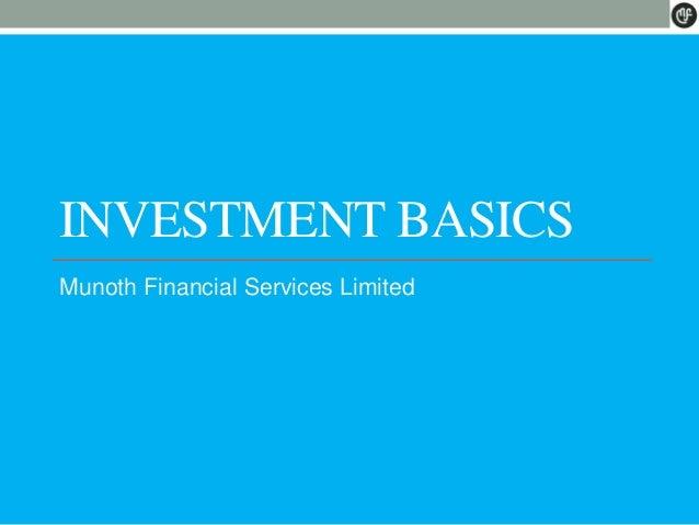 Investment basics for stock market
