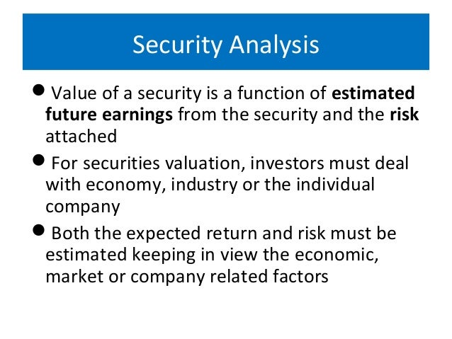 nature and scope of investment analysis
