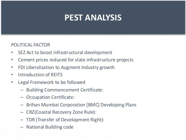 pest analysis indian it sector Pest analysis (political, economic the model's factors will vary in importance to a given company based on its industry and the goods it produces for example, consumer and b2b companies tend to be more affected by the social factors.