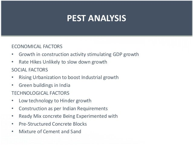 Pest analysis for information technology industry in india