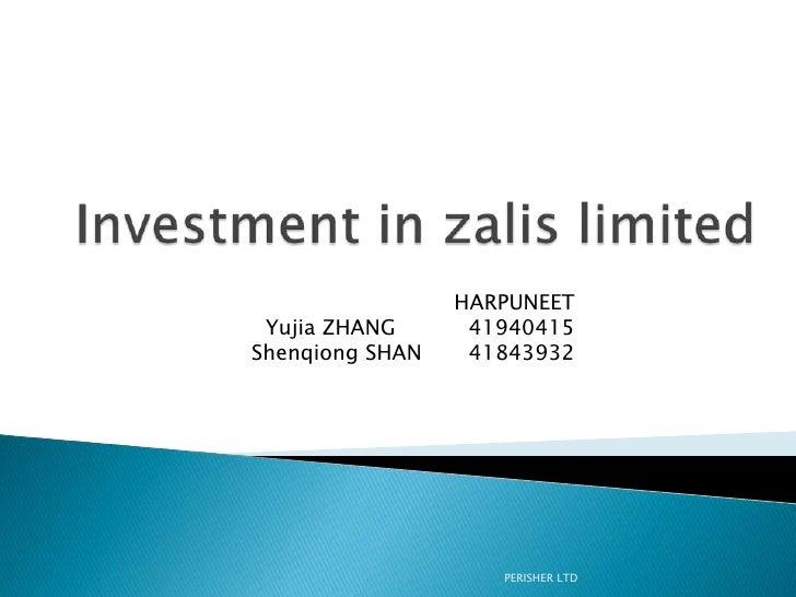 HARPUNEET Yujia ZHANG      41940415Shenqiong SHAN    41843932                    PERISHER LTD