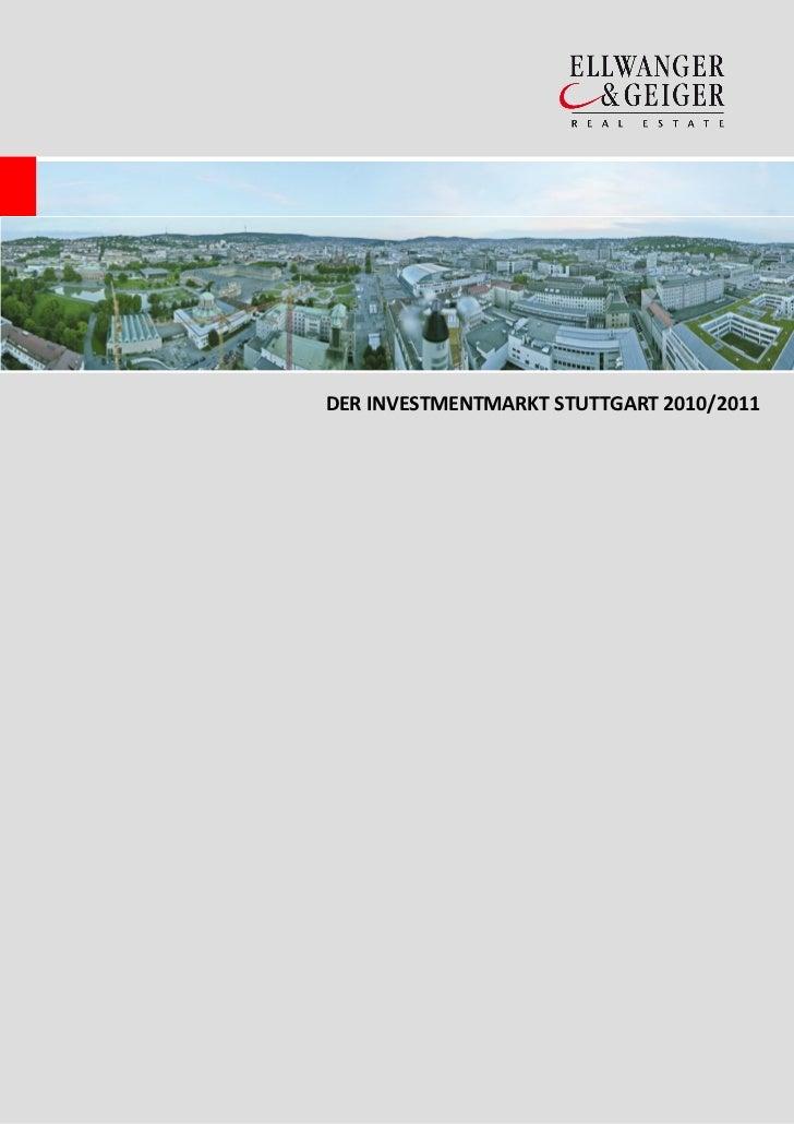 DER INVESTMENTMARKT STUTTGART 2010/2011