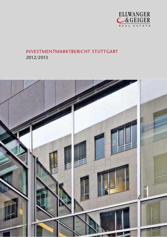INVESTMENTMARKTBERICHT STUTTGART2012/2013