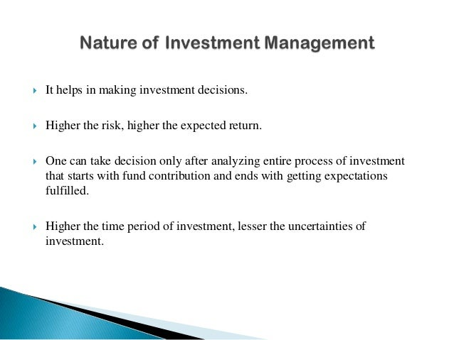 nature and scope of investment analysis pdf