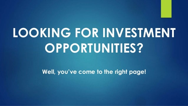 Looking for options on investing
