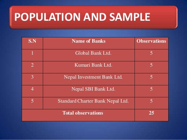 Thesis on banks of nepal