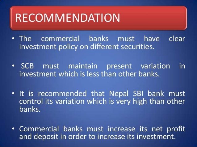 investment portfolio of nepalese banks The company renders entire gamut of merchant and investment banking services including fund management service under nabil mutual fund, portfolio management for its clients, depository participant services under central depository system, registrar to share etc.