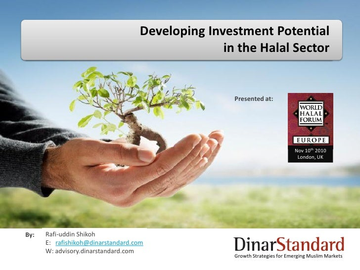 Developing Investment Potential                                                 in the Halal Sector                       ...