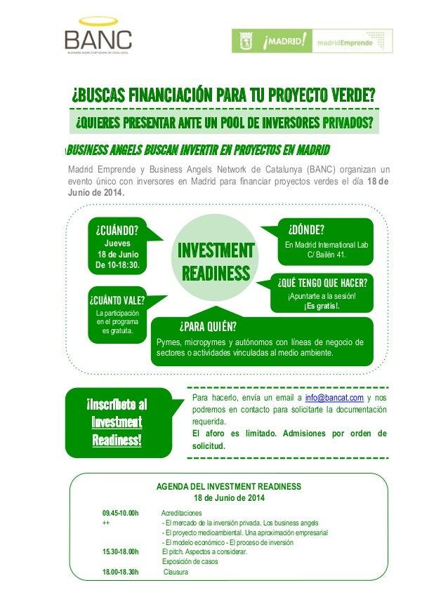 Madrid Emprende y Business Angels Network de Catalunya (BANC) organizan un evento único con inversores en Madrid para fina...