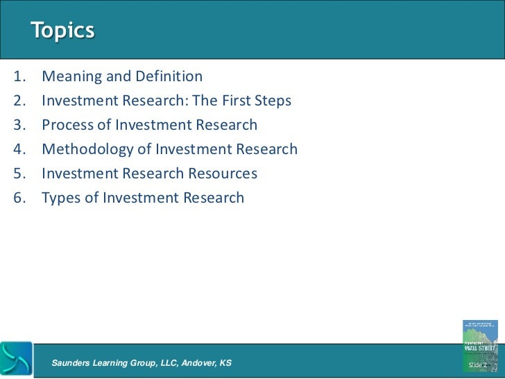 Investment Research Firms