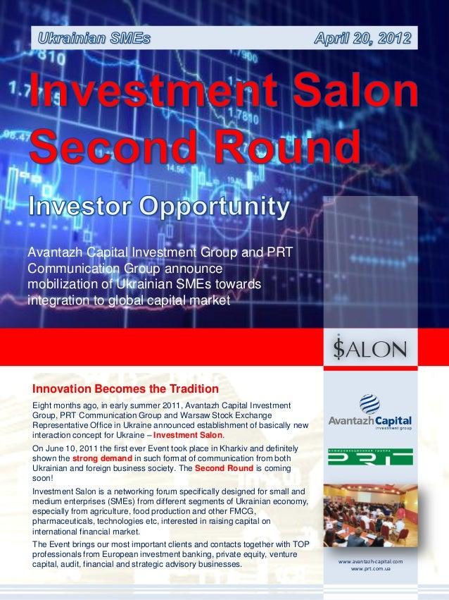 Avantazh Capital Investment Group and PRTCommunication Group announcemobilization of Ukrainian SMEs towardsintegration to ...