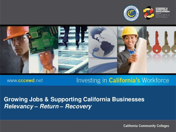 Growing Jobs & Supporting California BusinessesRelevancy – Return – Recovery
