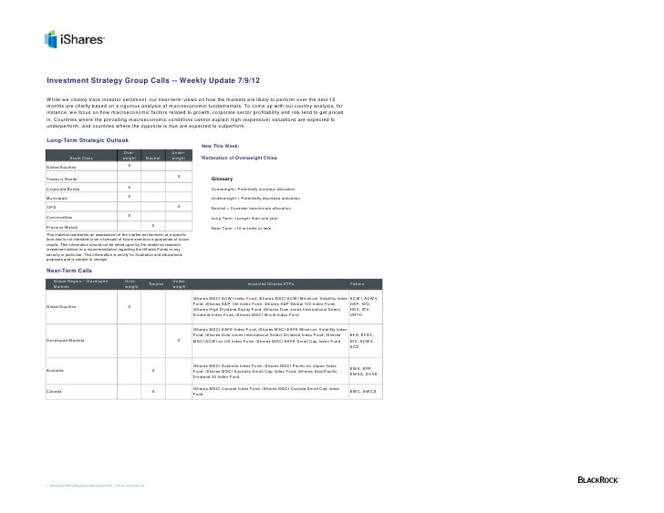 Investment Strategy Group Calls -- Weekly Update 7/9/12While we closely track investor sentiment, our near-term views on h...