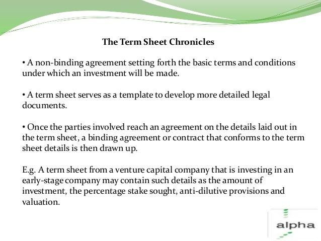 Investment term sheetsAn Overview – Term Sheet Template