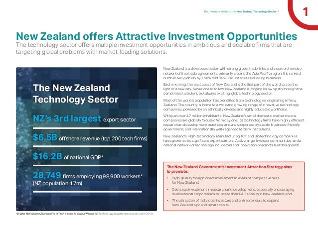 1The Investor's Guide to the New Zealand Technology Sector / New Zealand offers Attractive Investment Opportunities The te...