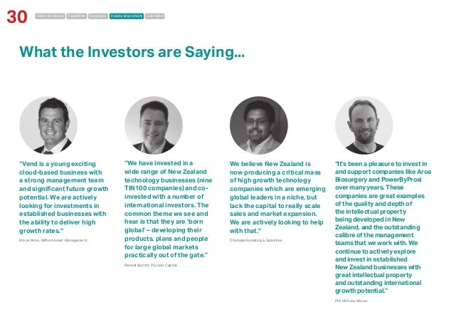 """Sector at a Glance Capabilities Ecosystem Investor Environment Learn More 30 What the Investors are Saying... """"Vend is a y..."""