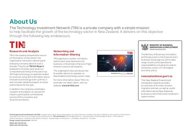 About Us The Technology Investment Network (TIN) is a private company with a simple mission: to help facilitate the growth...