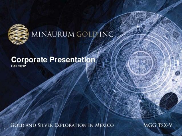 Corporate Presentation    Fall 20121