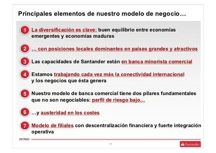 Principales elementos de nuestro modelo de negocio… 1 La diversificación es clave: buen equilibrio entre economías   emerg...