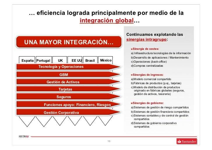 … eficiencia lograda principalmente por medio de la                    integración global…                                ...