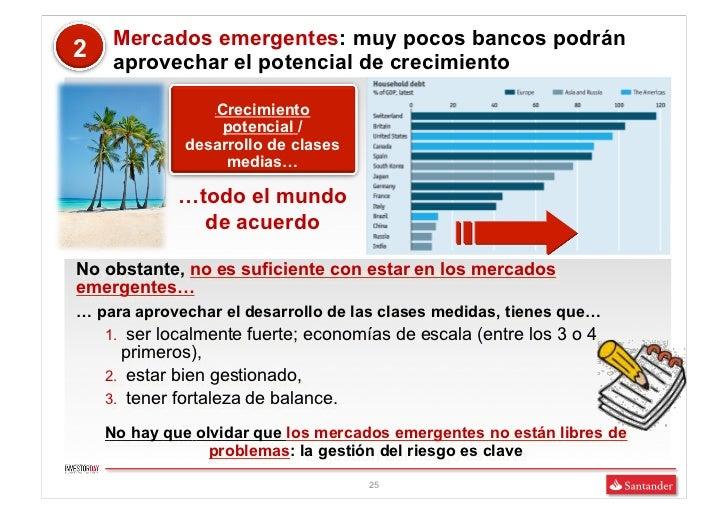 Mercados emergentes: muy pocos bancos podrán2    aprovechar el potencial de crecimiento                 Crecimiento       ...