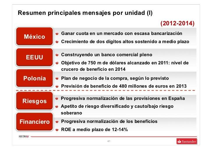 Resumen principales mensajes por unidad (I)                                                              (2012-2014)      ...